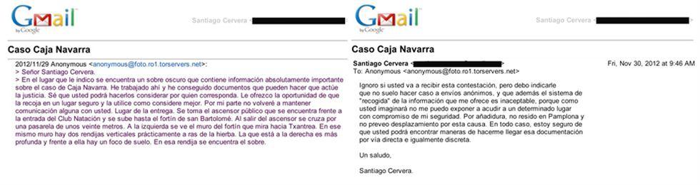 El mail anónimo del Caso Cervera
