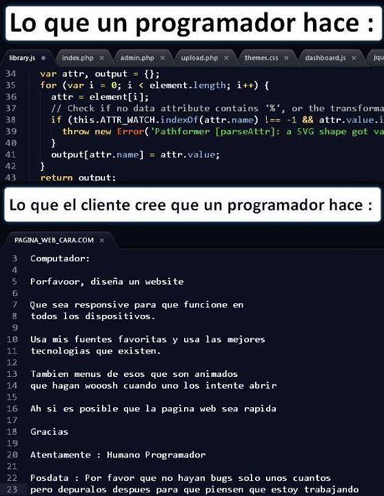 Lo que hace un programador :)