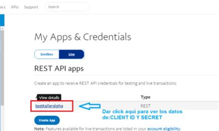Cómo obtener el ID de cliente y la clave secreta de Paypal