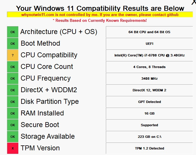 Solucion del TPM para instalar windows11